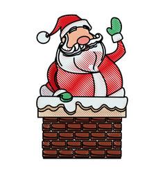 Drawing santa claus christmas character style vector
