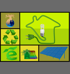 ecology and alternative energy vector image