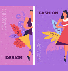 Fashion and design courses on creative art vector
