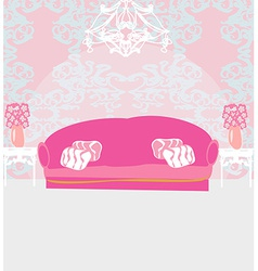 Fashionable interior of living room vector
