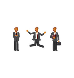 flat design businessman vector image