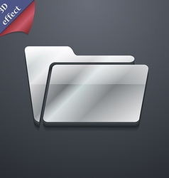 Folder icon symbol 3D style Trendy modern design vector