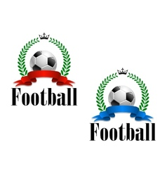 Football emblem or label vector