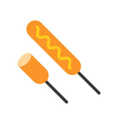 Fried sausages sticks food and gastronomy set vector