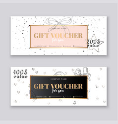 gift voucher template with gold background vector image