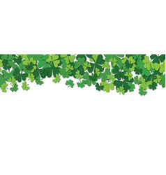 Happy saint patrick s day horizontal seamless vector