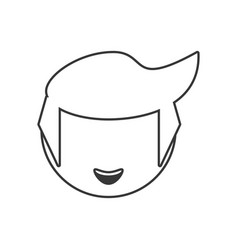 head boy male outline vector image