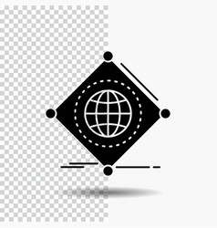 iot internet things of global glyph icon on vector image