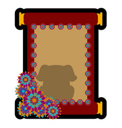 isolated parchment paper vector image