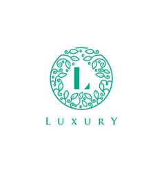 L letter logo luxurybeauty cosmetics logo vector