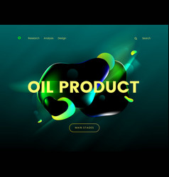 landing page template with a green background vector image