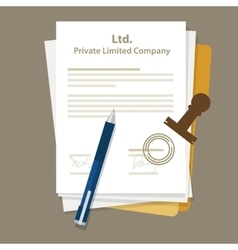 Ltd private limited company types business vector