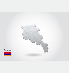 Map armenia with trendy triangles design vector