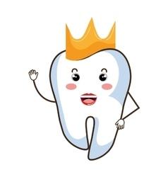 Medical dental care cartoon theme design vector