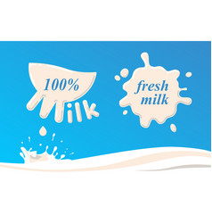 milk fresh white vector image