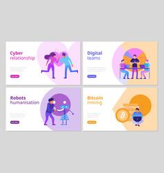 modern technologies banners set vector image