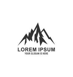 mountain logo hill design logo vector image