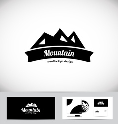 Mountain peak logo icon design vector