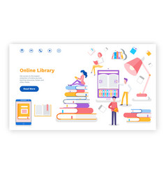 online library access to books printed materials vector image