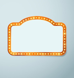 Retro cinema vintage old bulb frame sign vector image