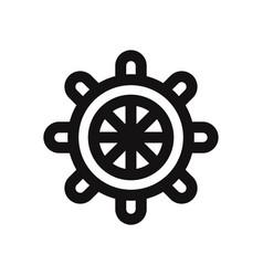rudder icon isolated on white background rudder vector image
