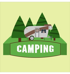 RV camping Logo and badge vector image