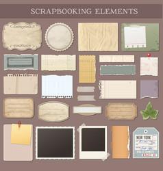 scrapbooking elements vector image
