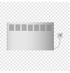 Seasonal heater mockup realistic style vector
