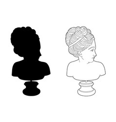shadow of a woman statuary vector image