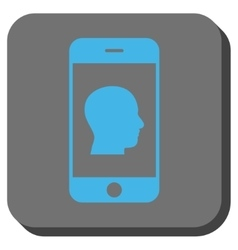 Smartphone Contact Human Portrait Rounded Square vector