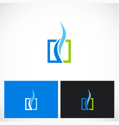 Square wave air cool logo vector