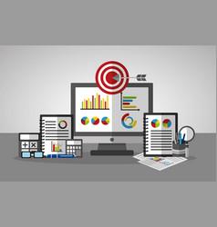 statistics data business vector image