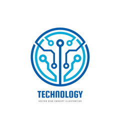 technology - logo template vector image