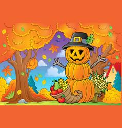 Thanksgiving theme image 5 vector