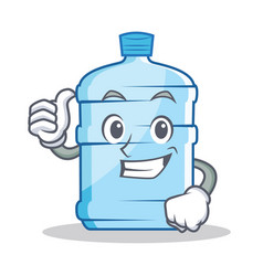 Thumbs up gallon character cartoon style vector