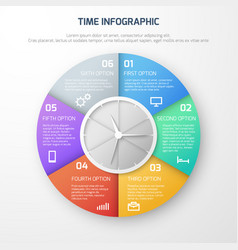 time schedule infographic with clock and vector image