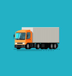 truck lorry moving delivery service vector image