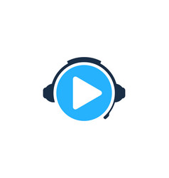 video podcast logo icon design vector image