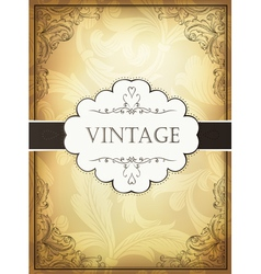 Vintage background with ornamental frame vector