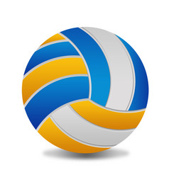 volleyball ball on white background vector image