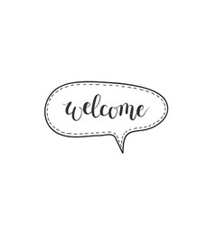 Welcome hand-written word in a speech vector