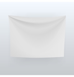 White banner with folds background vector image