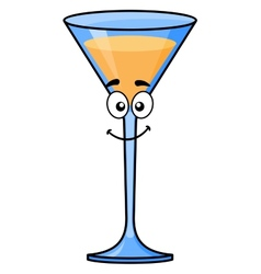 Cartoon tropical cocktail or martini vector image