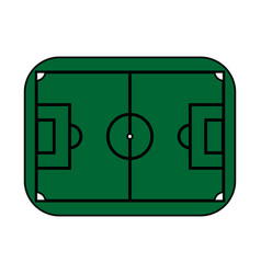 Color silhouette with soccer field vector