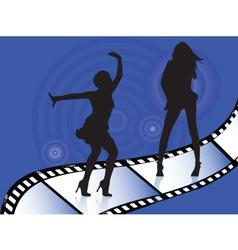 dancers on film vector image