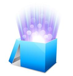 Glowing box vector image vector image