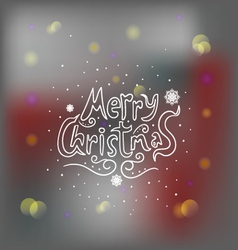 Merry Christmas greeting card with bokeh effect vector image vector image