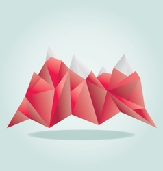 Red mounatain poly vector image