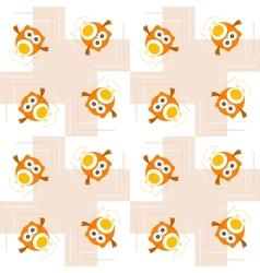 Seamless orange owl pattern for kids vector image vector image