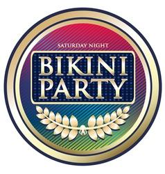 Bikini Party Exotic Label vector image